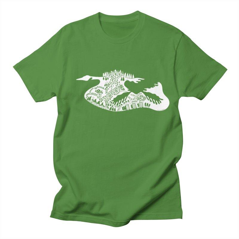 Canscape 4 You WHITE! in Men's Regular T-Shirt Clover by BullShirtCo