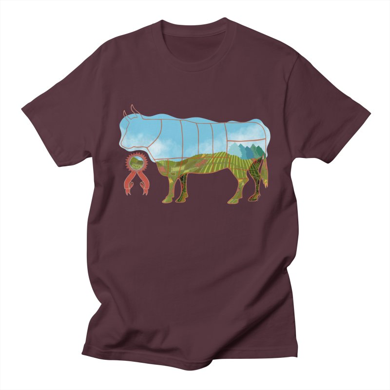 Beefatarian for the one who eats everything. This is no BULL! in Men's Regular T-Shirt Maroon by BullShirtCo