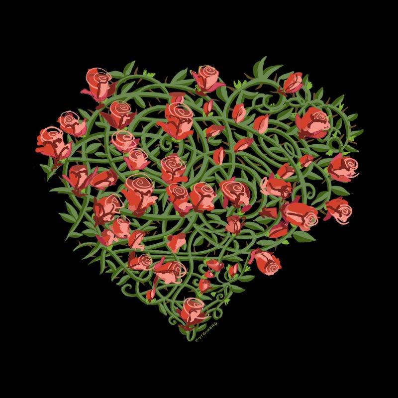 Heart of Roses Tattoo! Hand Drawn Script Vines too. Men's T-Shirt by BullShirtCo