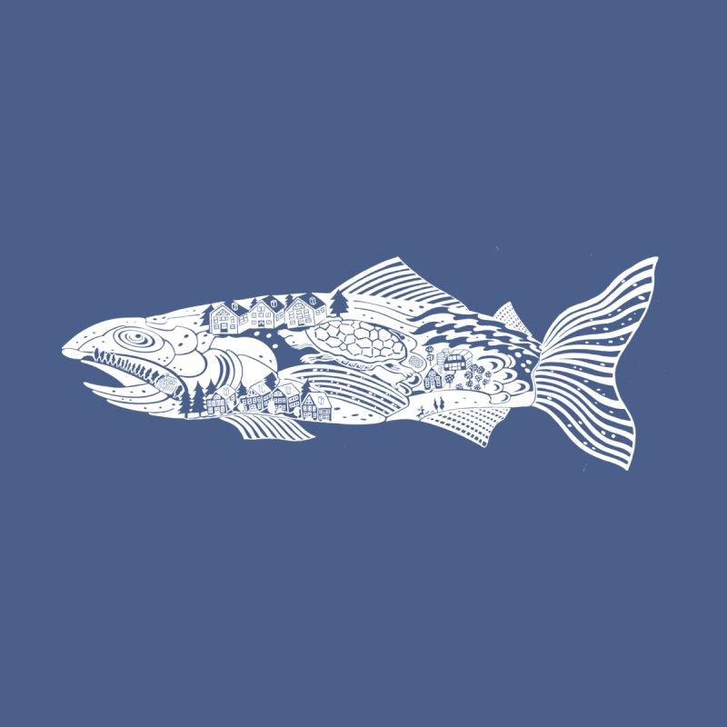 Fish Tale - In White! Men's T-Shirt by BullShirtCo
