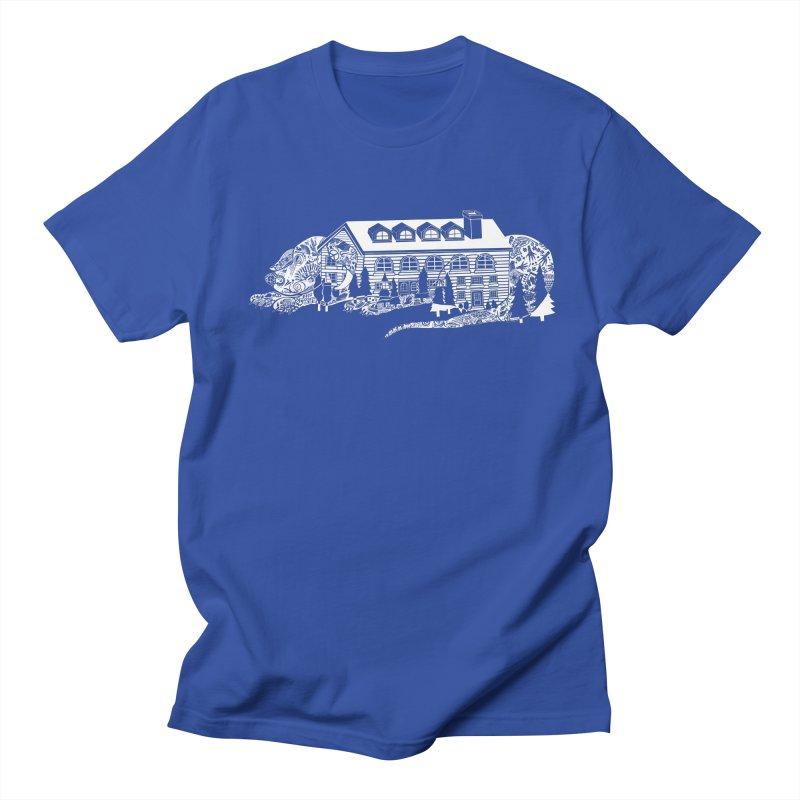 Fancy Dog House - White! in Men's Regular T-Shirt Royal Blue by BullShirtCo