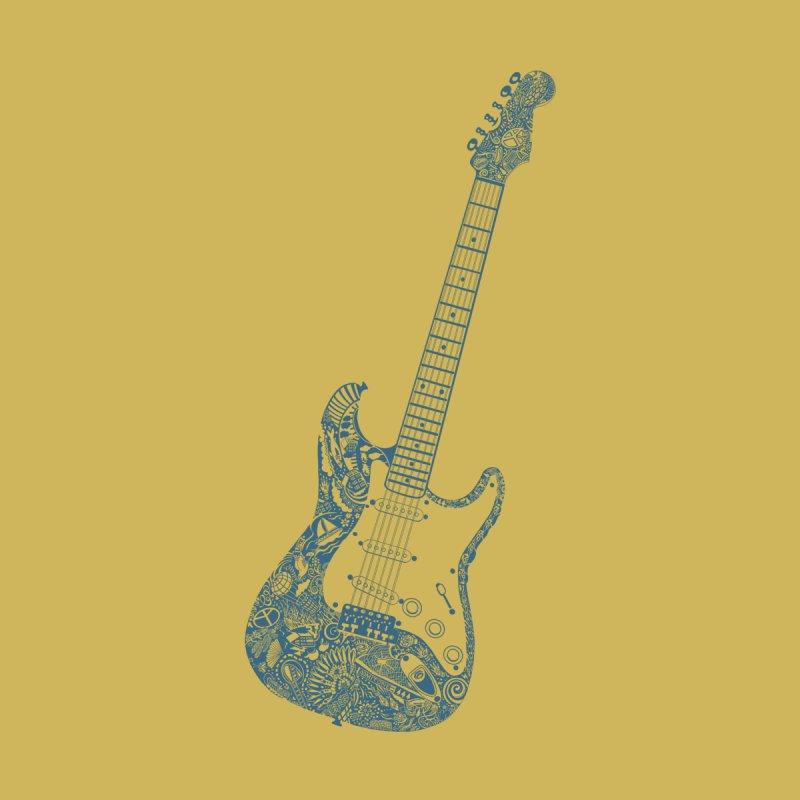 Electric Guitar Art Tattoo - Blue Men's T-Shirt by BullShirtCo