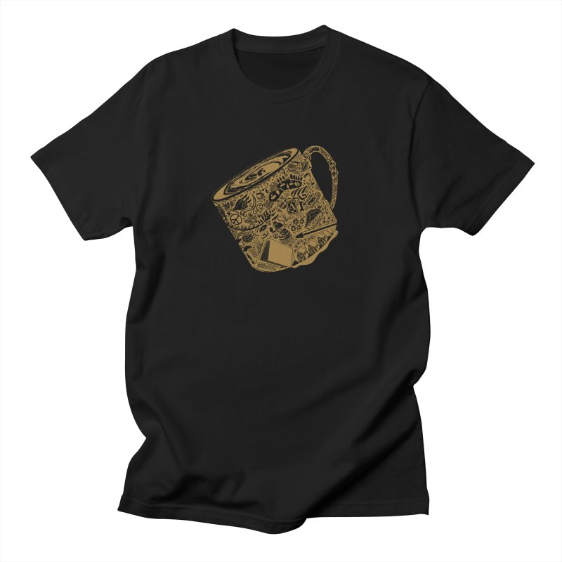 Cuppa Java with cream in Men's Regular T-Shirt Black by BullShirtCo