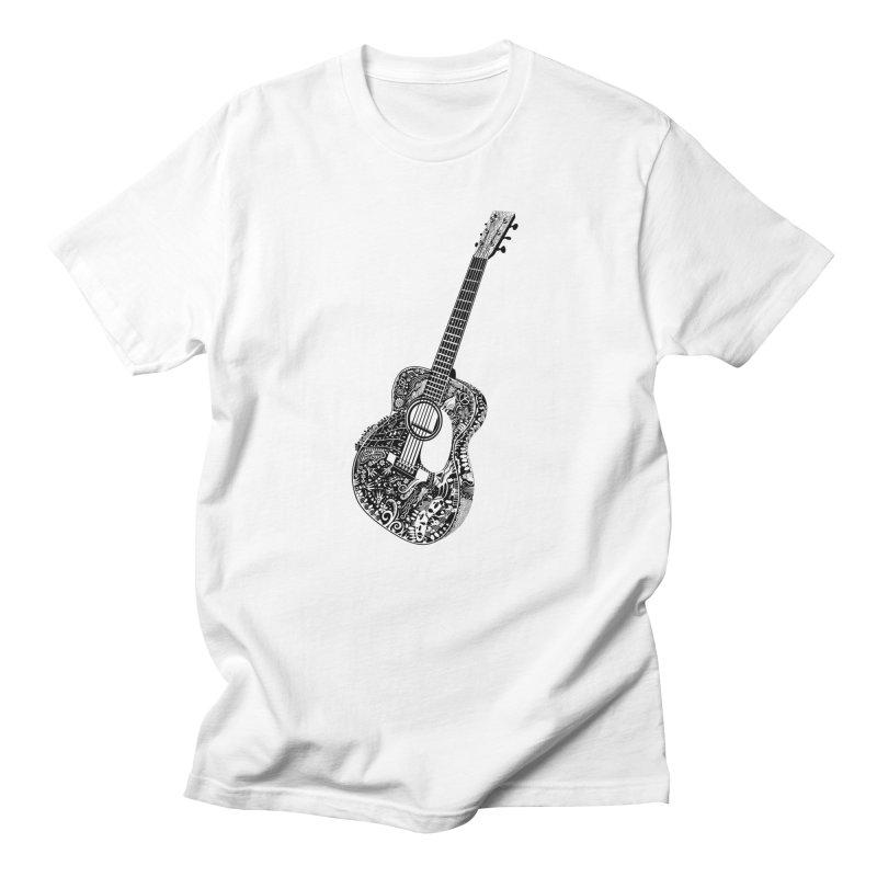 Guitar Master! One Color black in Men's Regular T-Shirt White by BullShirtCo