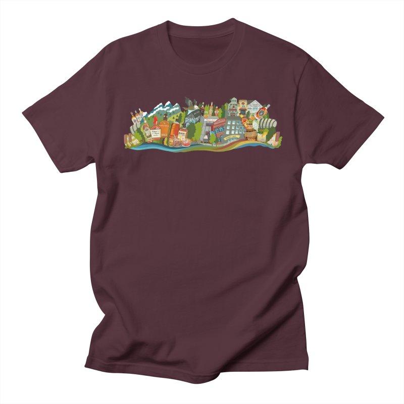 Bourbon Country in Men's Regular T-Shirt Maroon by BullShirtCo