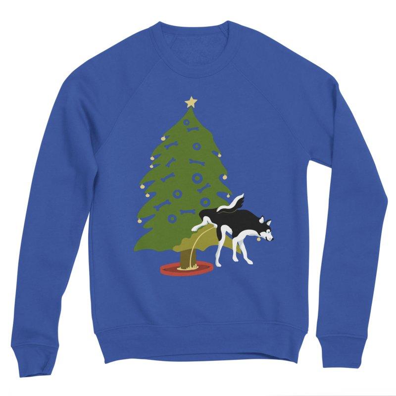 My Dog's Christmas Tree Husky! Women's Sponge Fleece Sweatshirt by BullShirtCo