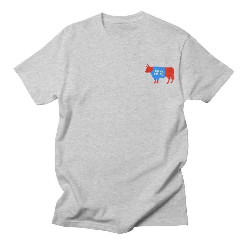 BullShirtCo Signature Shirt with small logo in Men's Regular T-Shirt Heather Grey by BullShirtCo