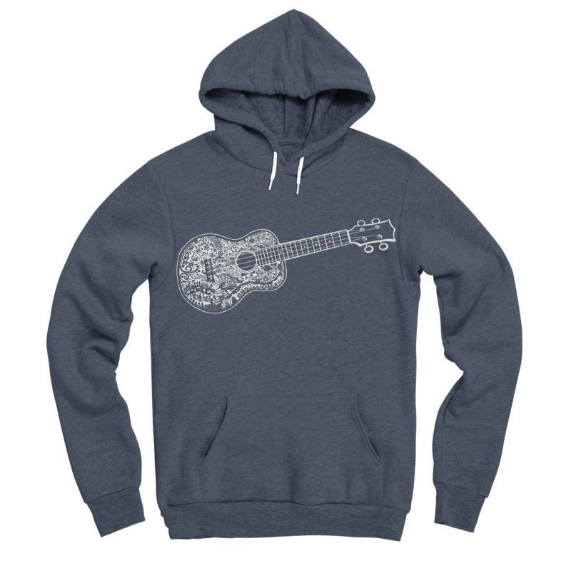My Ukulele- White Ink! Women's Sponge Fleece Pullover Hoody by BullShirtCo