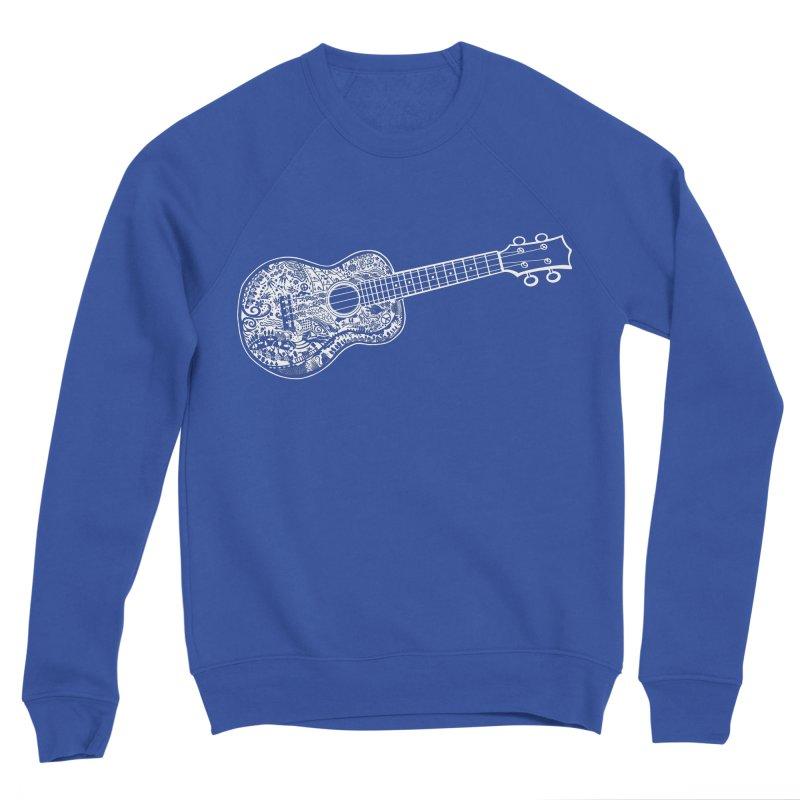 My Ukulele- White Ink! Women's Sponge Fleece Sweatshirt by BullShirtCo
