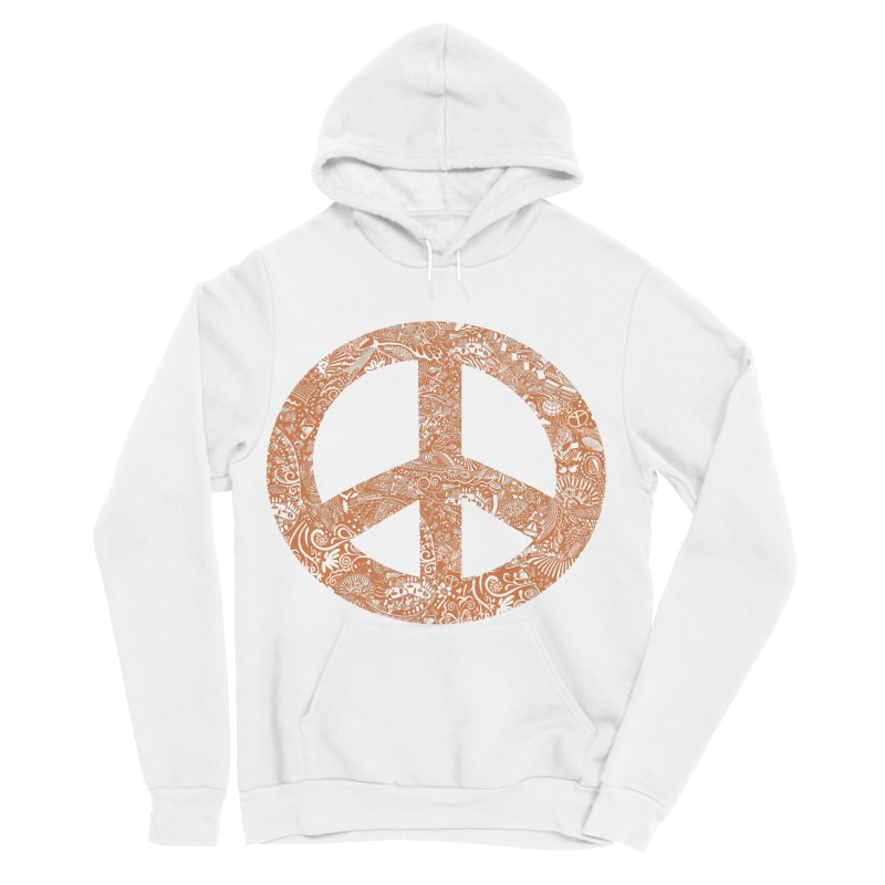 Peace, Baby. Original art... Orange! Women's Sponge Fleece Pullover Hoody by BullShirtCo
