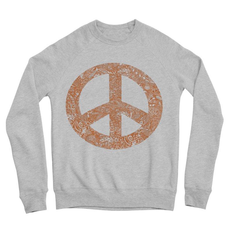 Peace, Baby. Original art... Orange! Women's Sponge Fleece Sweatshirt by BullShirtCo