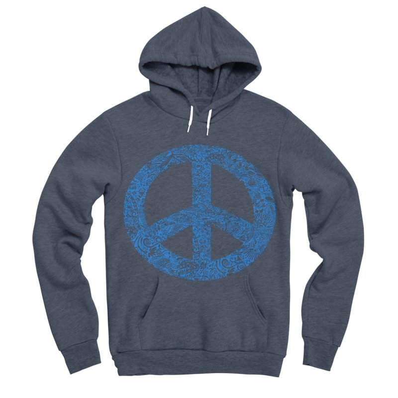 Peace, Baby. Original illustration, Blue! Women's Sponge Fleece Pullover Hoody by BullShirtCo