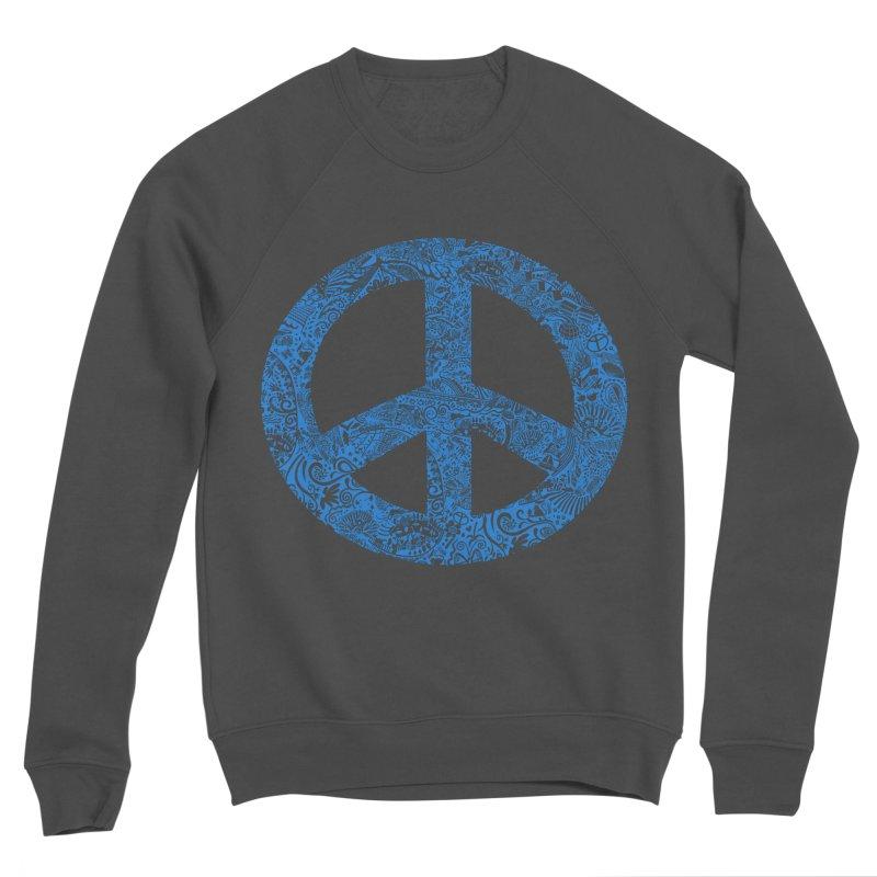 Peace, Baby. Original illustration, Blue! Women's Sponge Fleece Sweatshirt by BullShirtCo