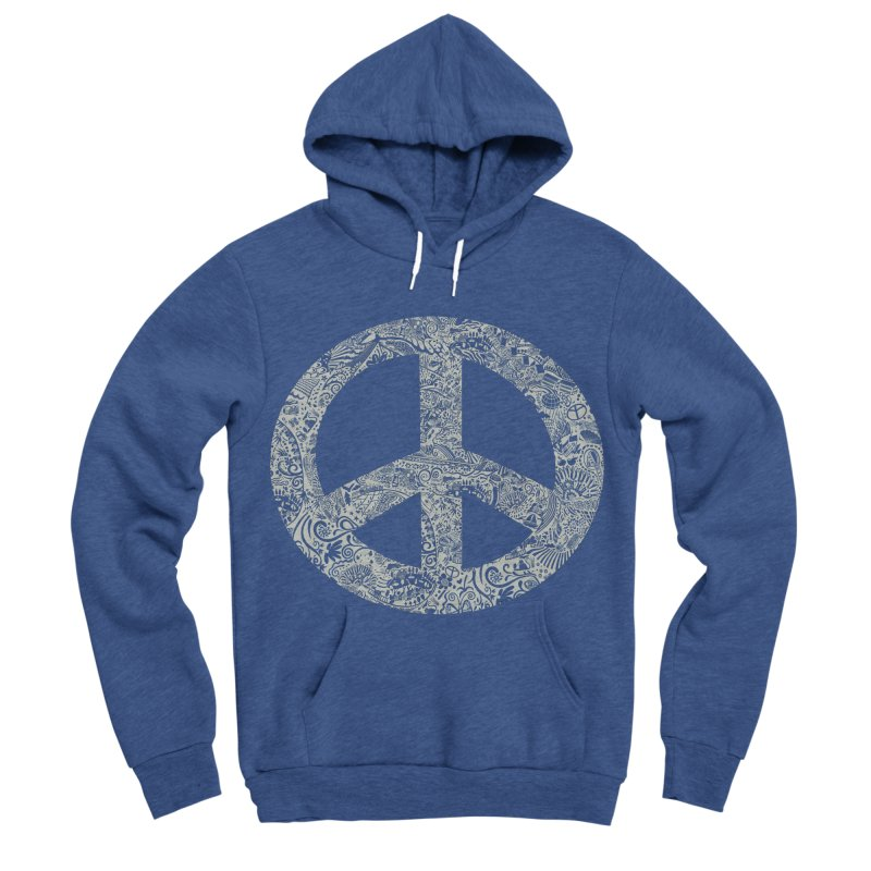 Peace, Baby. Original illustration, White Ink! Women's Sponge Fleece Pullover Hoody by BullShirtCo