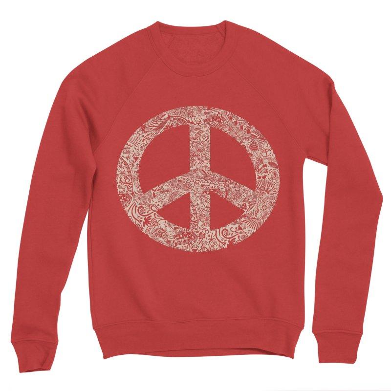 Peace, Baby. Original illustration, White Ink! Women's Sponge Fleece Sweatshirt by BullShirtCo