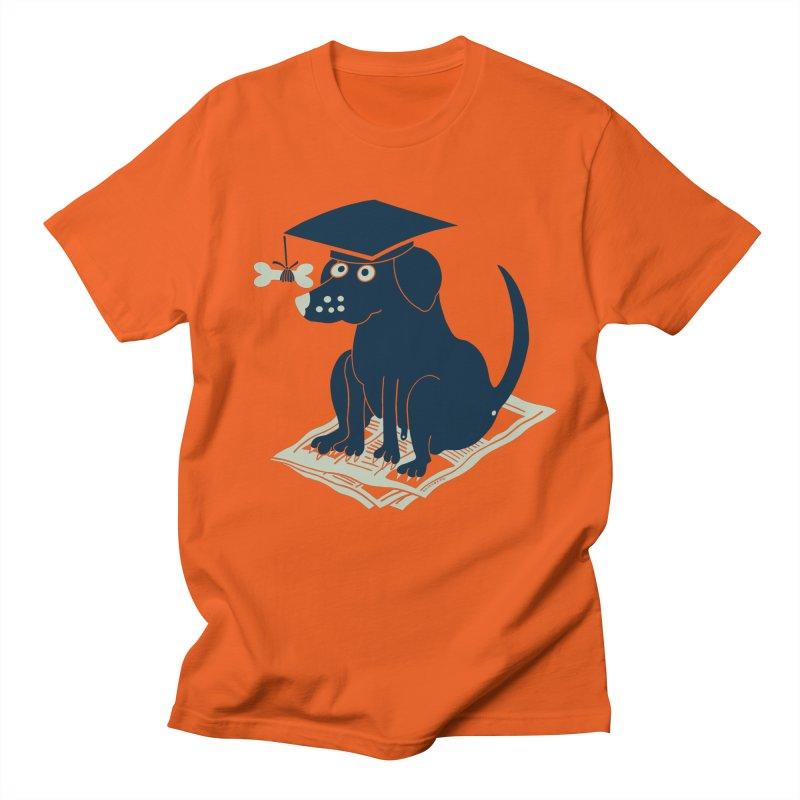 Dog-Ploma Graduation (Get it?) in Men's Regular T-Shirt Orange Poppy by BullShirtCo