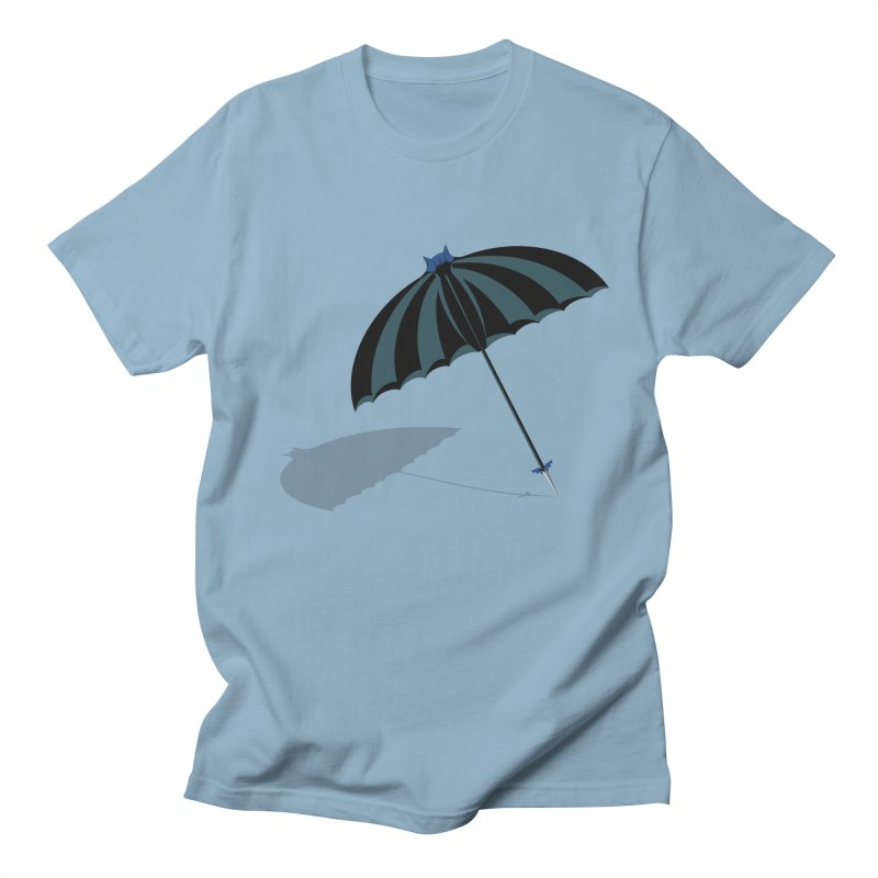 Batman's Umbrella in Men's Regular T-Shirt Light Blue by BullShirtCo