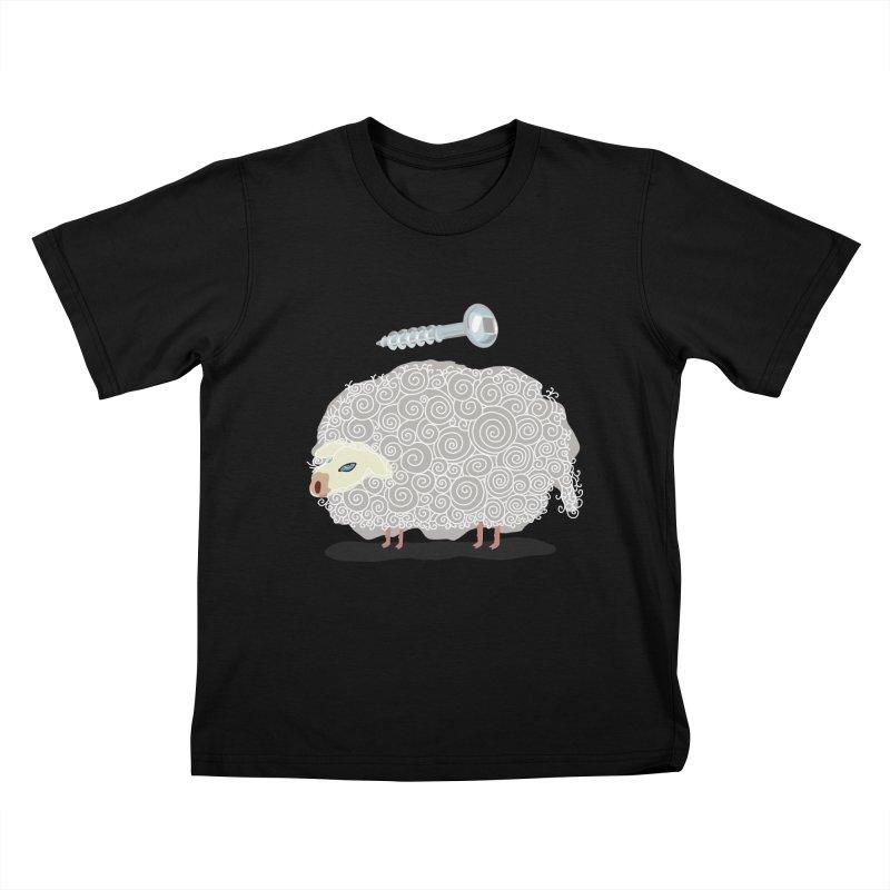 Screw Ewe! Kids T-Shirt by BullShirtCo