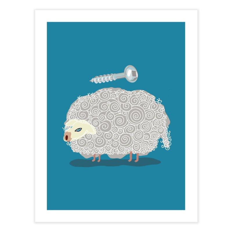 Screw Ewe! Home Fine Art Print by BullShirtCo