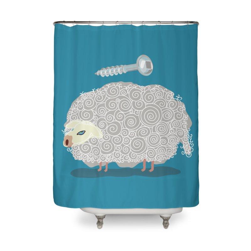 Screw Ewe! Home Shower Curtain by BullShirtCo