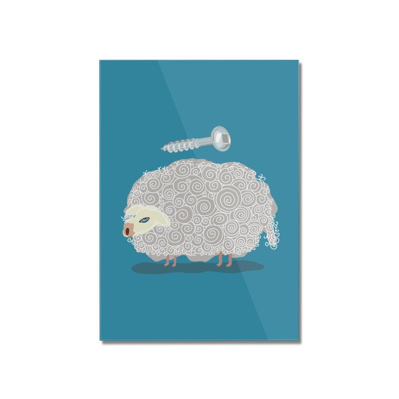 Screw Ewe! Home Mounted Acrylic Print by BullShirtCo