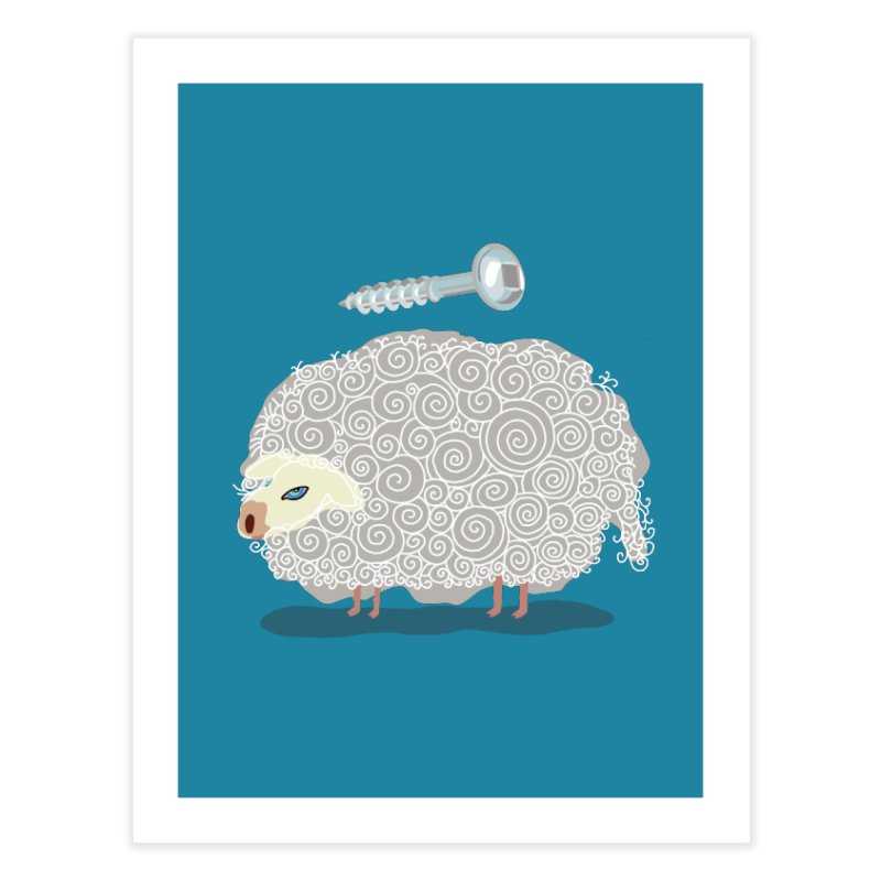 Screw Ewe! Home Fine Art Print by BullShirtCo