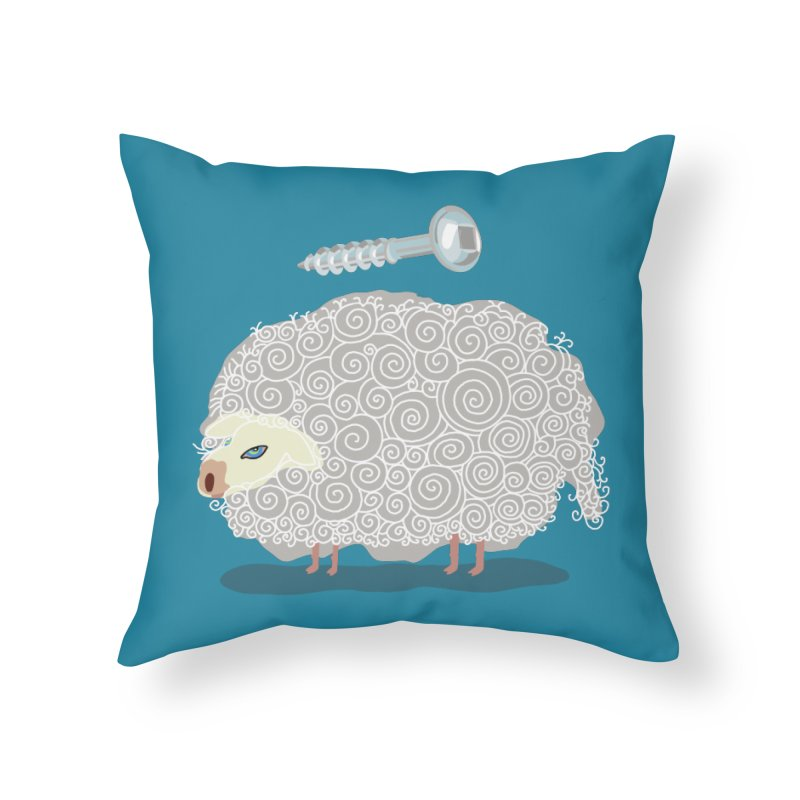 Screw Ewe! Home Throw Pillow by BullShirtCo