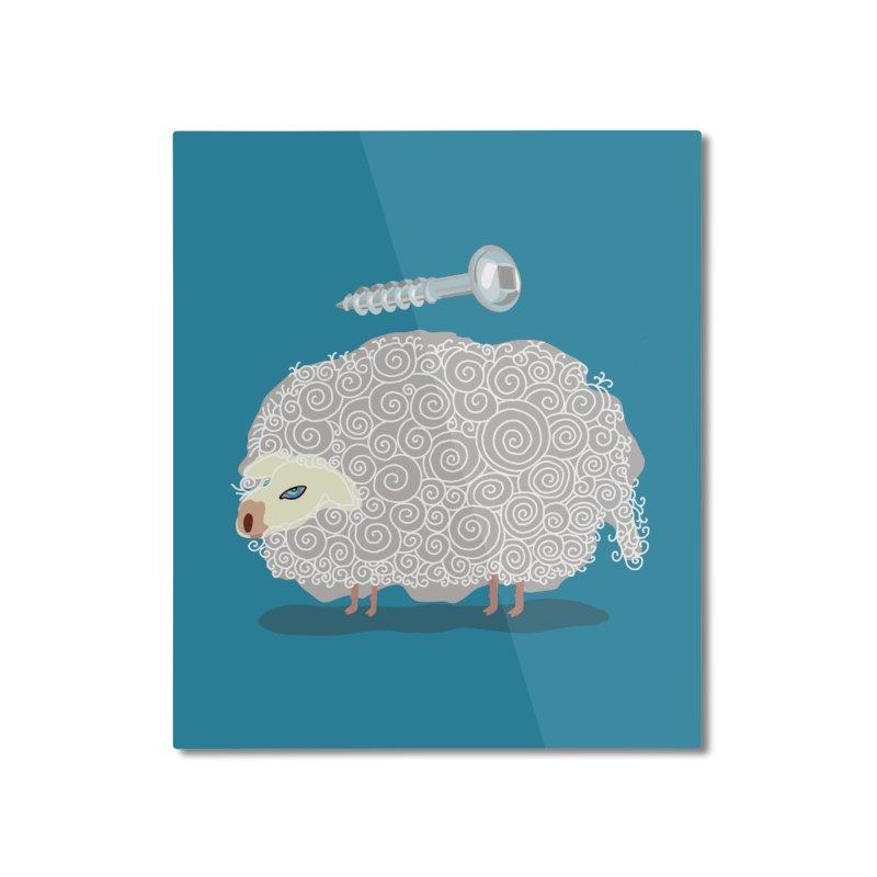 Screw Ewe! Home Mounted Aluminum Print by BullShirtCo