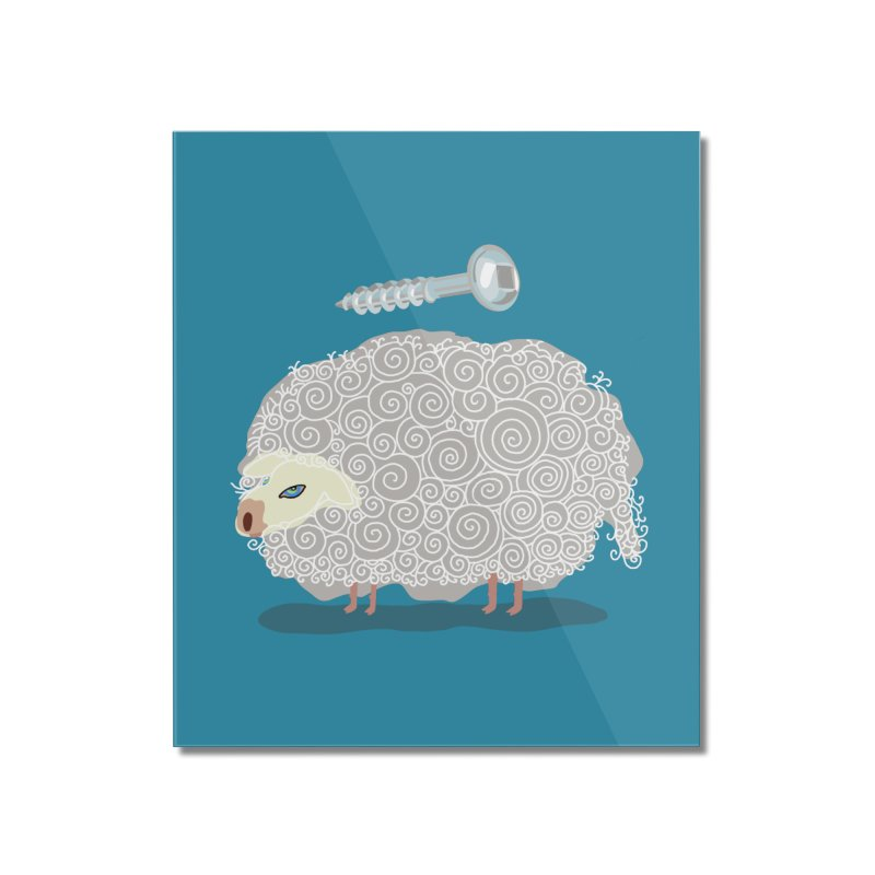 Screw Ewe! Home Mounted Acrylic Print by BullShirtCo
