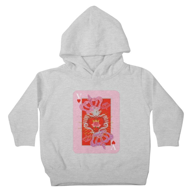 The V of Hearts! Kids Toddler Pullover Hoody by BullShirtCo