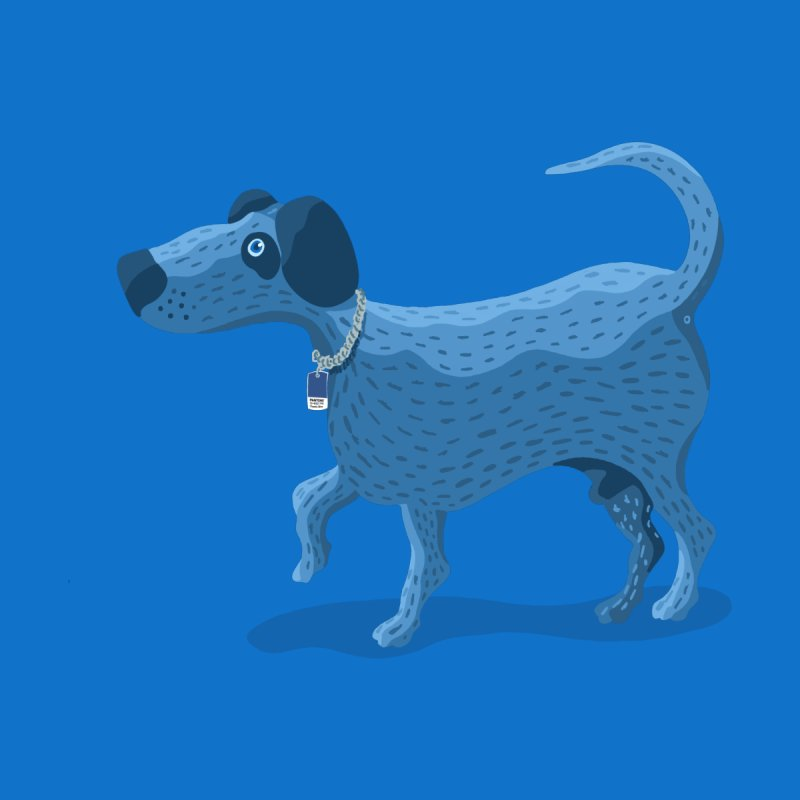 My Dog Blue Men's T-Shirt by BullShirtCo