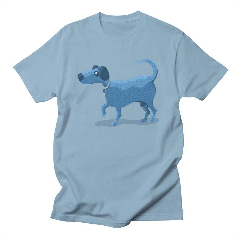 My Dog Blue in Men's Regular T-Shirt Light Blue by BullShirtCo