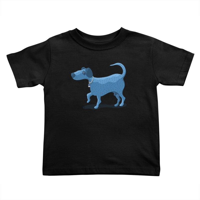 My Dog Blue Kids Toddler T-Shirt by BullShirtCo
