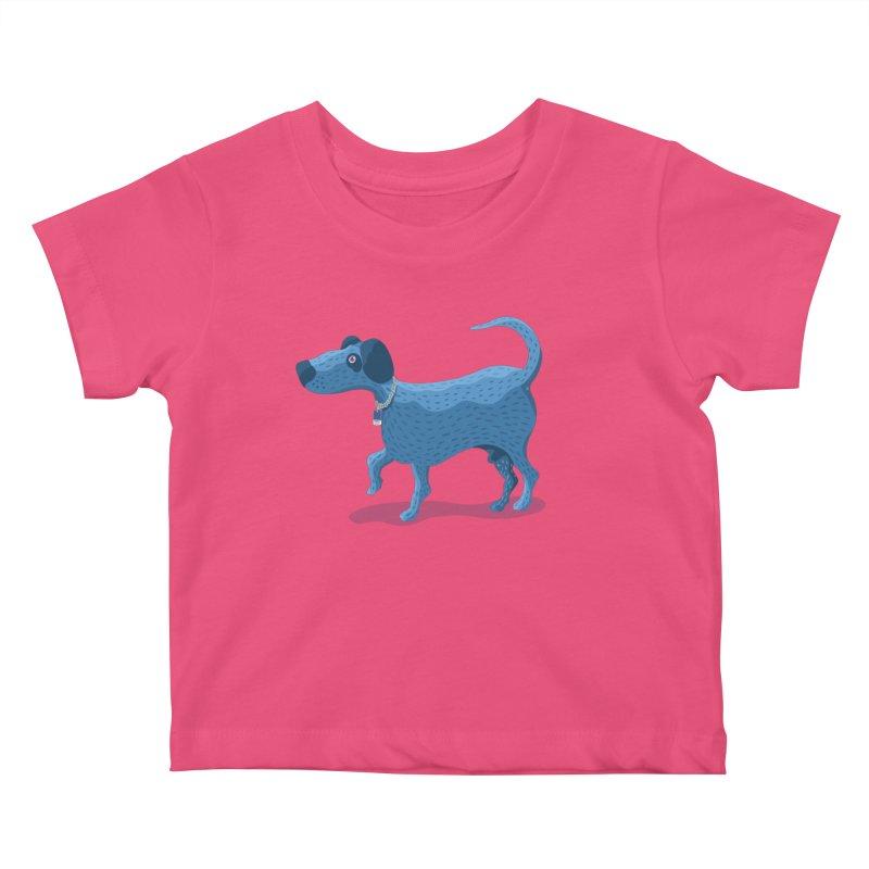 My Dog Blue Kids Baby T-Shirt by BullShirtCo