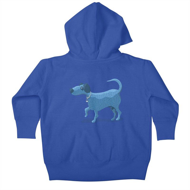 My Dog Blue Kids Baby Zip-Up Hoody by BullShirtCo