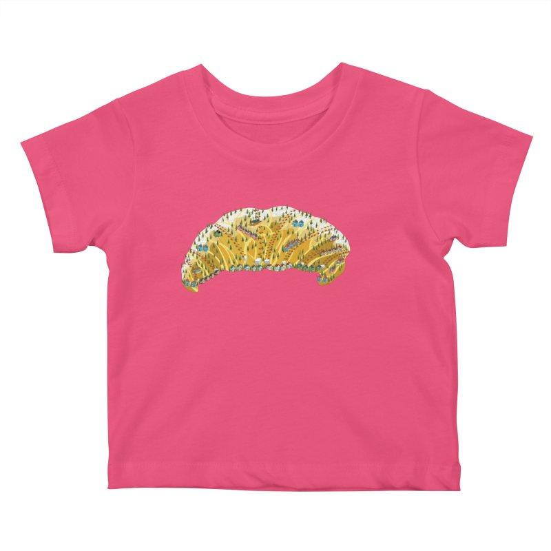 French Ski Trip Kids Baby T-Shirt by BullShirtCo