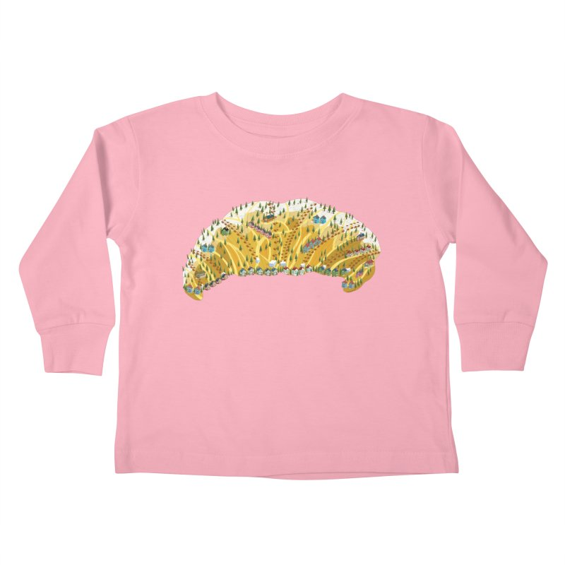 French Ski Trip Kids Toddler Longsleeve T-Shirt by BullShirtCo
