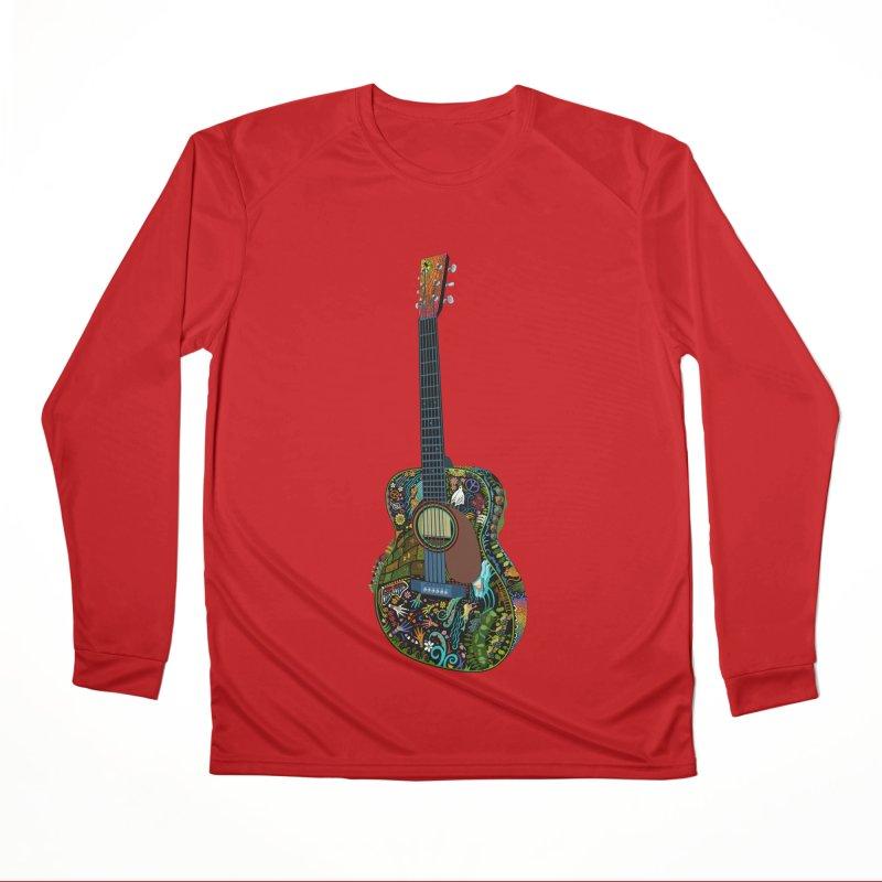 Eric's Martin Guitar Full Colour! Women's Performance Unisex Longsleeve T-Shirt by BullShirtCo
