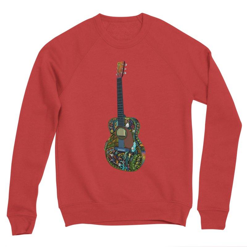 Eric's Martin Guitar Full Colour! Men's Sponge Fleece Sweatshirt by BullShirtCo