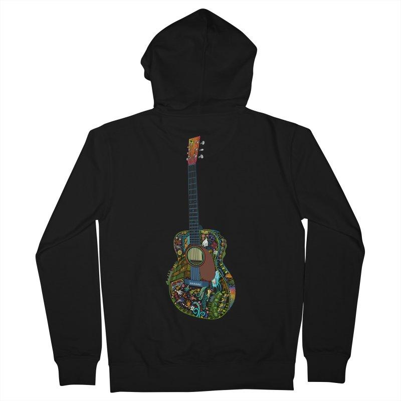 Eric's Martin Guitar Full Colour! Women's French Terry Zip-Up Hoody by BullShirtCo