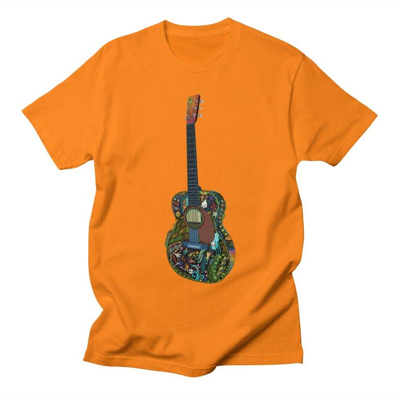 Eric's Martin Guitar Full Colour! in Men's Regular T-Shirt Orange by BullShirtCo