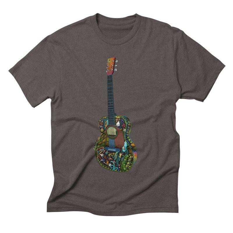 Eric's Martin Guitar Full Colour! Men's Triblend T-Shirt by BullShirtCo