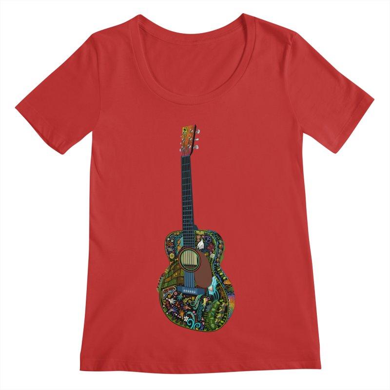Eric's Martin Guitar Full Colour! Women's Regular Scoop Neck by BullShirtCo