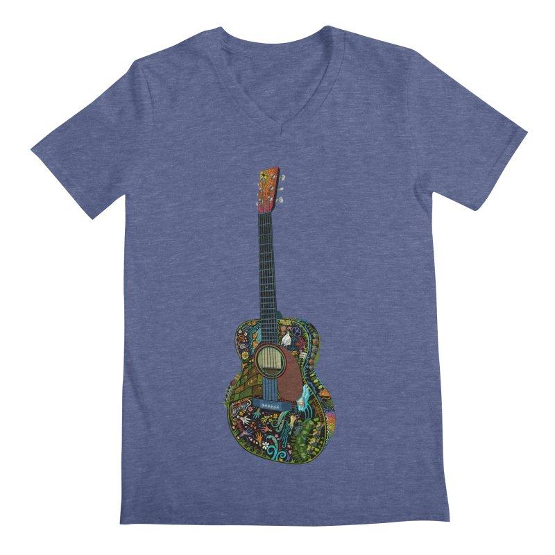 Eric's Martin Guitar Full Colour! Men's Regular V-Neck by BullShirtCo