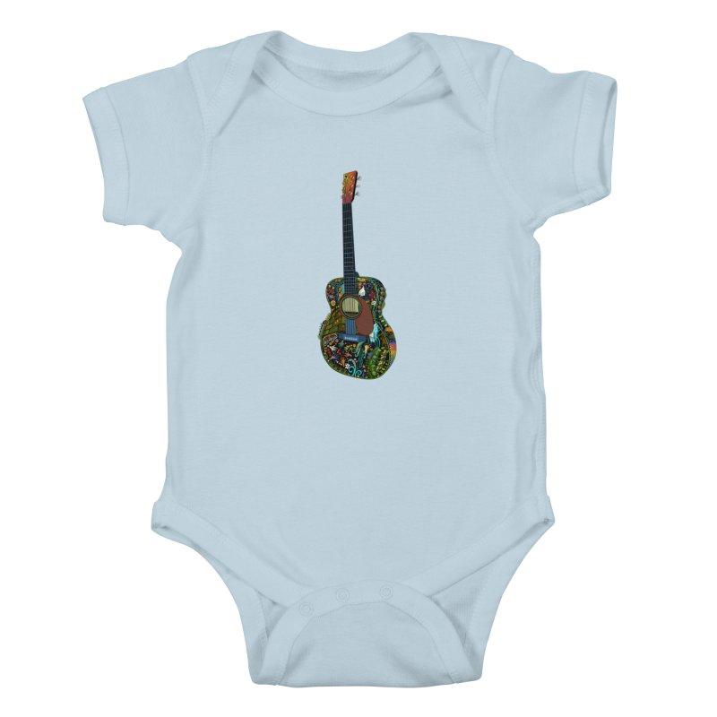 Eric's Martin Guitar Full Colour! Kids Baby Bodysuit by BullShirtCo
