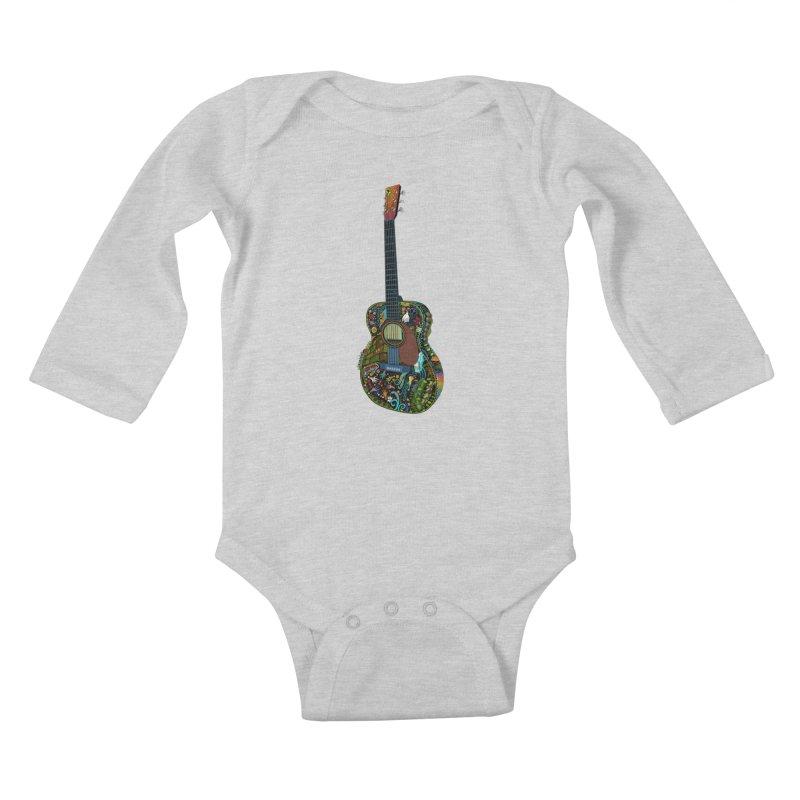 Eric's Martin Guitar Full Colour! Kids Baby Longsleeve Bodysuit by BullShirtCo