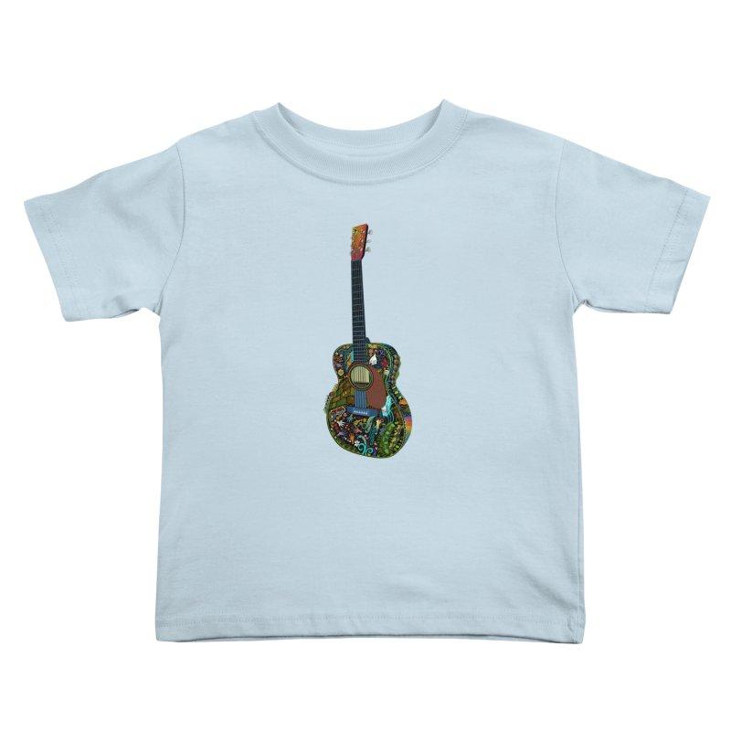Eric's Martin Guitar Full Colour! Kids Toddler T-Shirt by BullShirtCo
