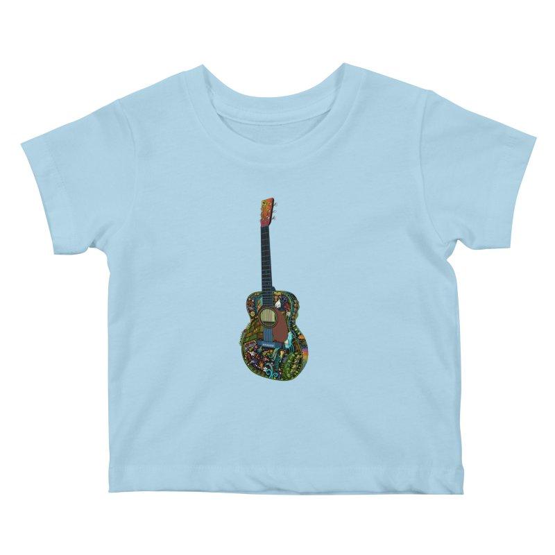 Eric's Martin Guitar Full Colour! Kids Baby T-Shirt by BullShirtCo