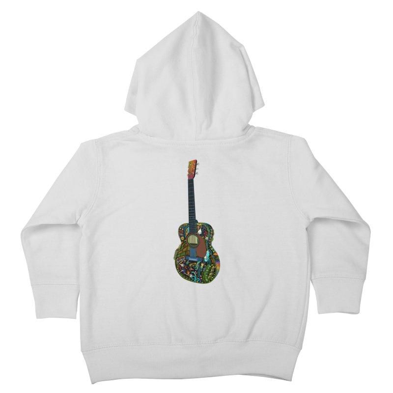 Eric's Martin Guitar Full Colour! Kids Toddler Zip-Up Hoody by BullShirtCo