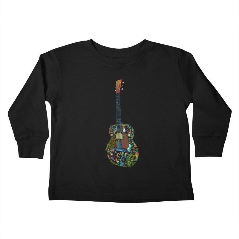 Eric's Martin Guitar Full Colour! Kids Toddler Longsleeve T-Shirt by BullShirtCo